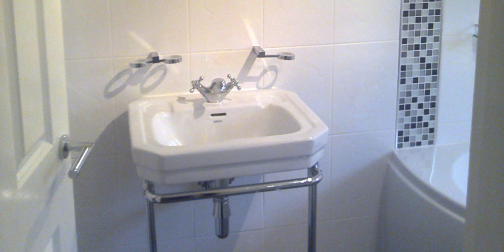 plumber fitted sink